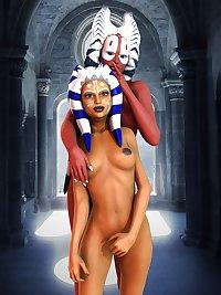 Erotic STARWARS - famous togruta - Ahsoka Tano & Shaak Ti