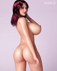 3 D Big Tit White Bimbos