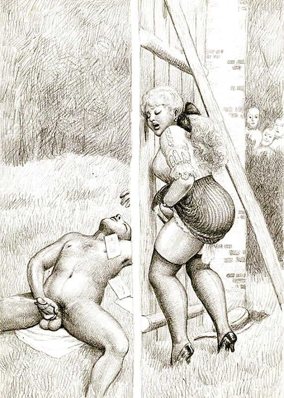 Примитивный фривольная рисунок эротика